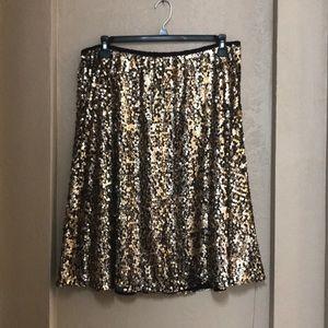 Full Sequined Midi Skirt